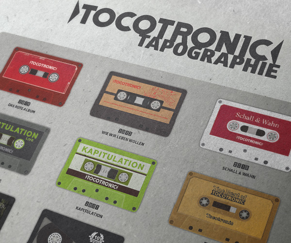 Tocotronic Tapographie by grafinesse