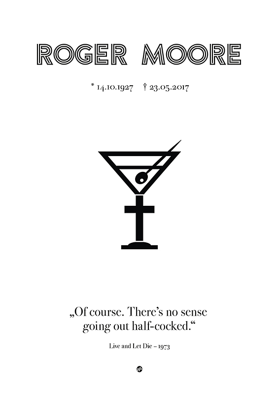 Roger Moore R.I.P. Poster (© grafinesse)