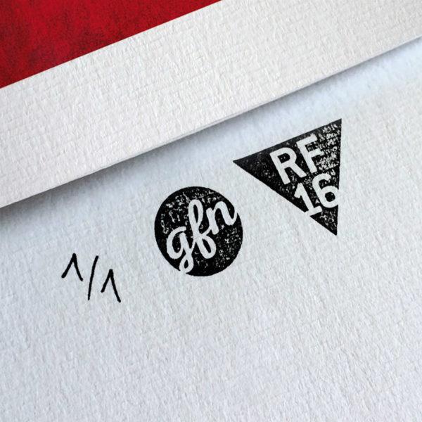 American Psycho Kunstdruck – Handnummeriert und mit Stempel gebrandet