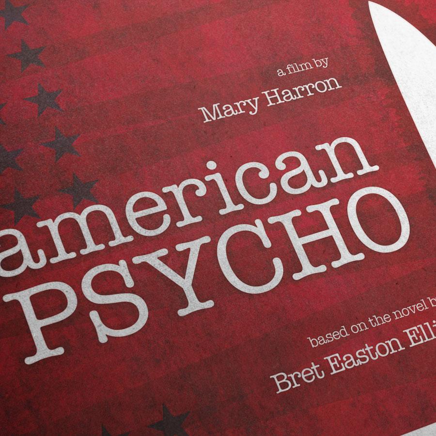 American Psycho Kunstdruck – Detailansicht