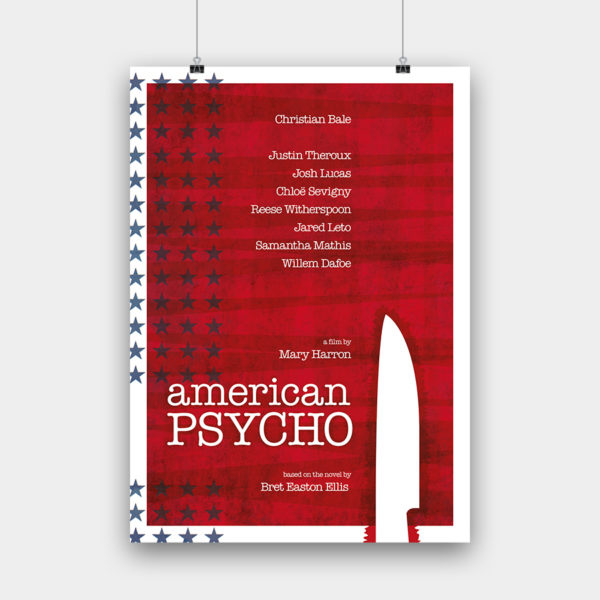 American Psycho Kunstdruck – 50 x 70 cm