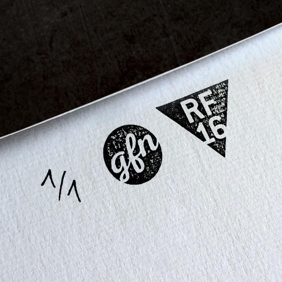 City of God Kunstdruck – Handnummeriert und mit Stempel gebrandet