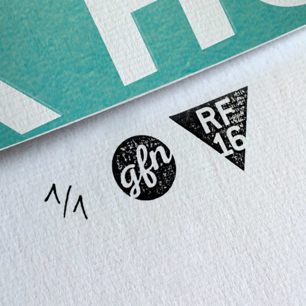 High Fidelity Kunstdruck – Handnummeriert und mit Stempel gebrandet