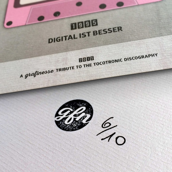 TOCOTRONIC TAPOGRAPHIE Kunstdruck – Handnummeriert und mit Stempel gebrandet