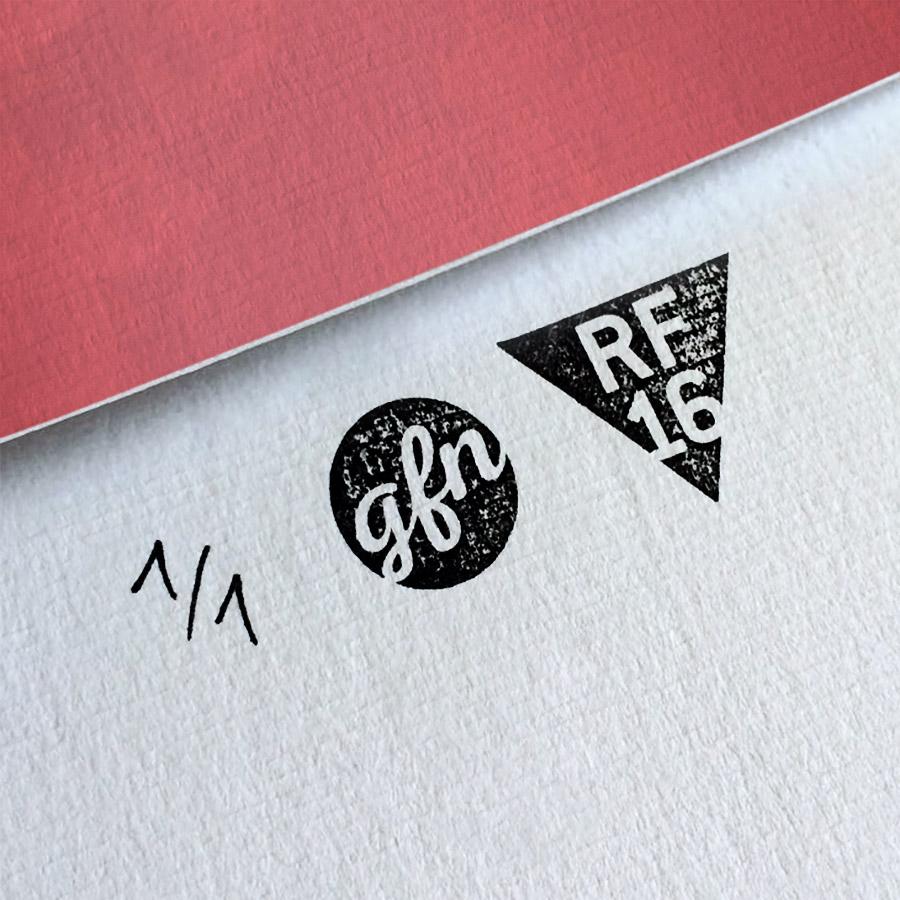 True Romance Kunstdruck – Handnummeriert und mit Stempel gebrandet