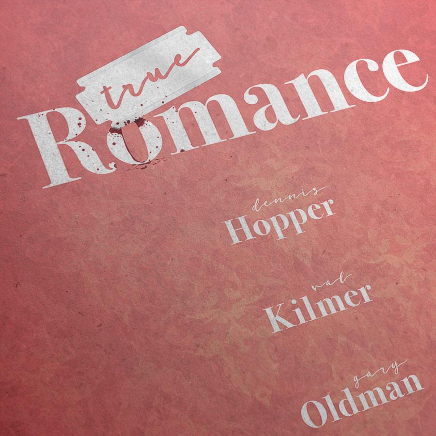 True Romance Kunstdruck – Detailansicht