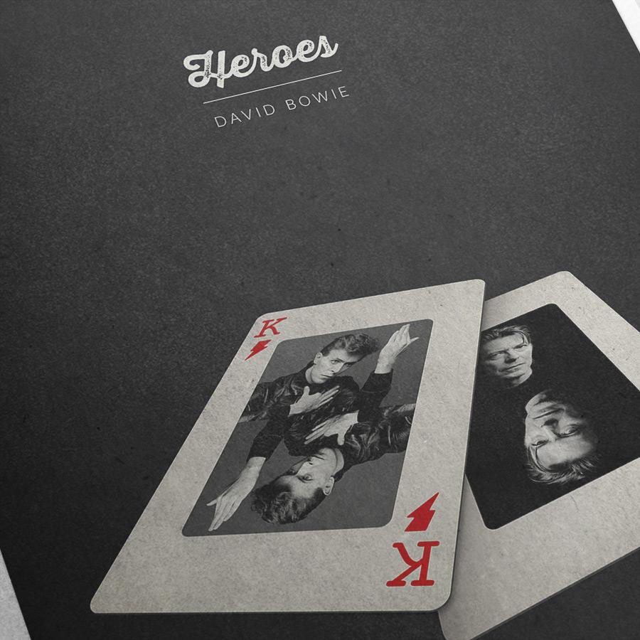 David Bowie »Heroes« – Detailansicht