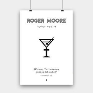 R.I.P. Roger Moore – 594 x 841 mm