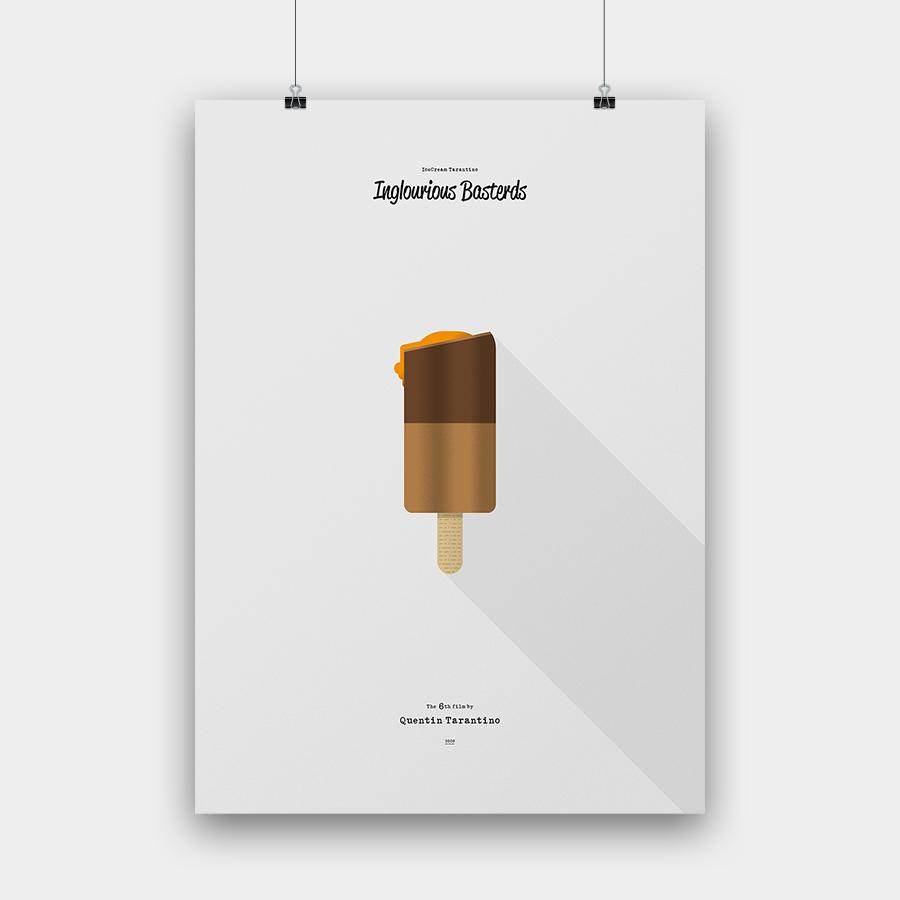 IceCream Tarantino »Inglourious Basterds« – 50 x 70 cm ohne Rahmen