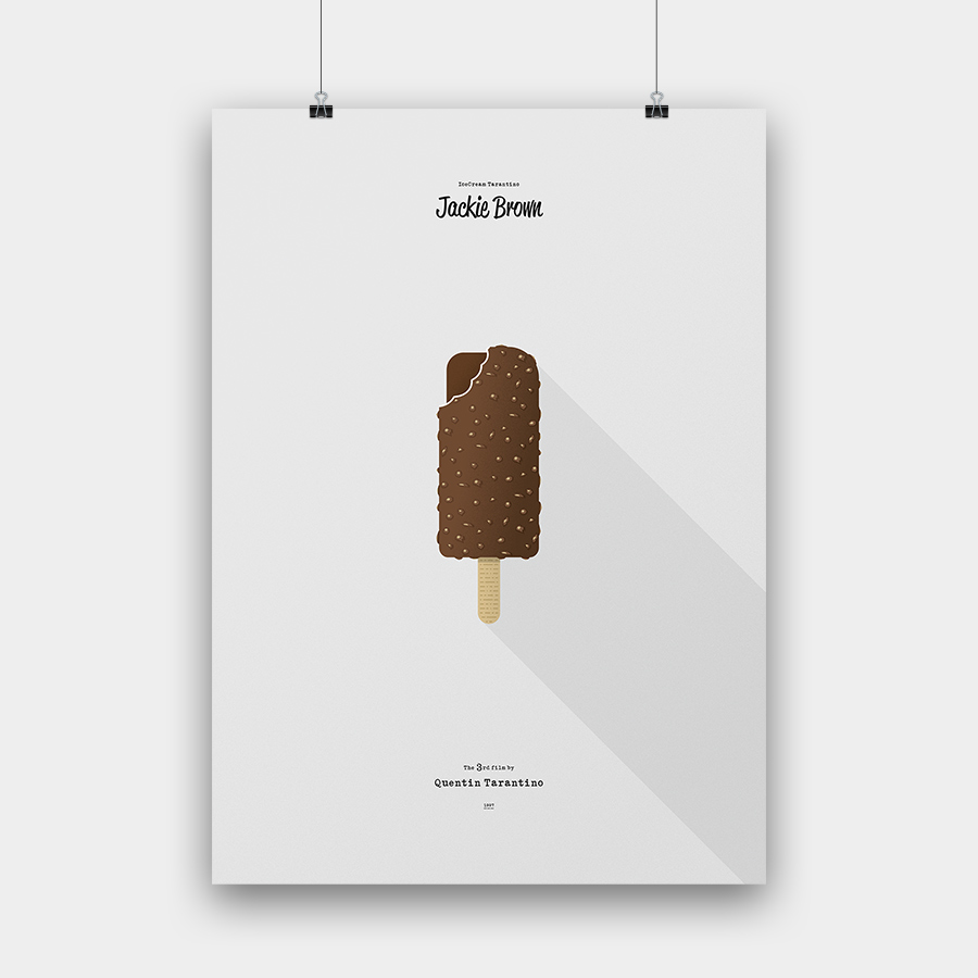 IceCream Tarantino »Jackie Brown« – 50 x 70 cm ohne Rahmen