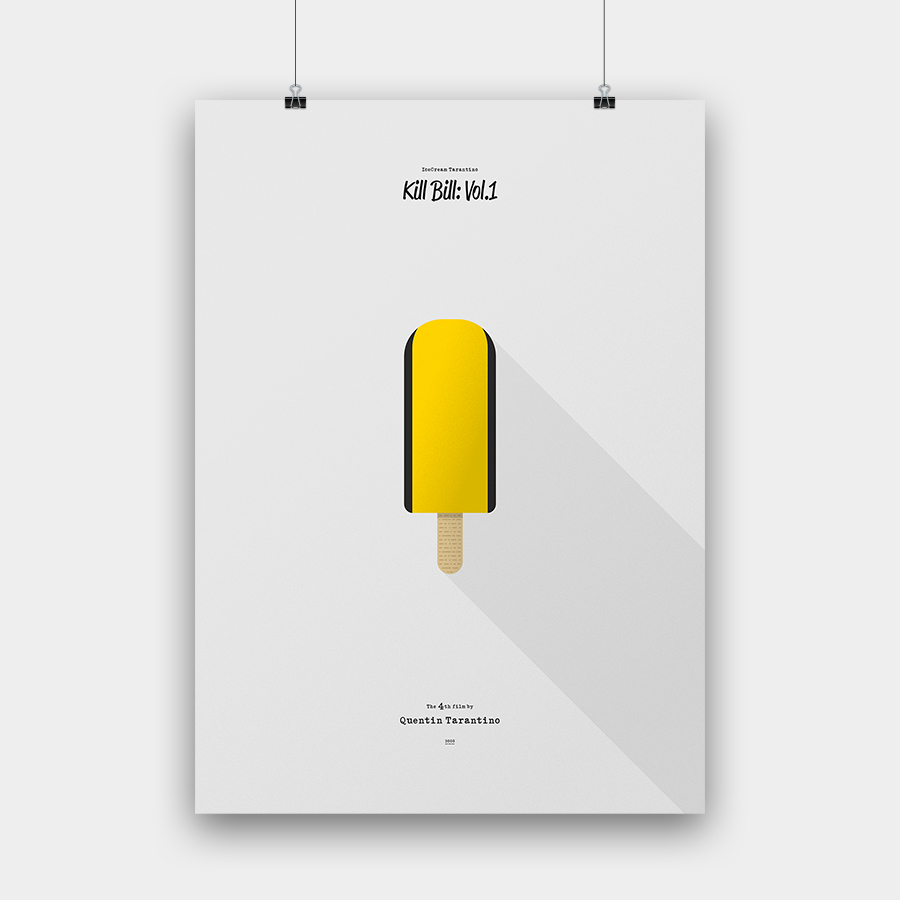 IceCream Tarantino »Kill Bill: Vol.1« – 50 x 70 cm ohne Rahmen