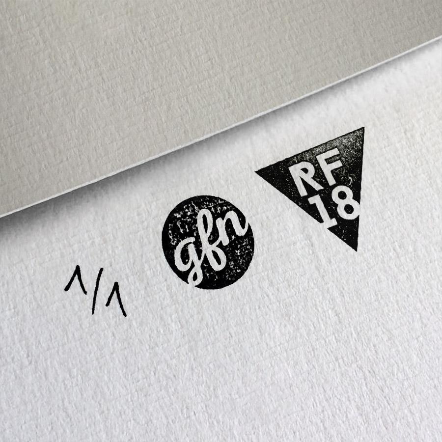 Psycho Kunstdruck – Handnummeriert und mit Stempel gebrandet