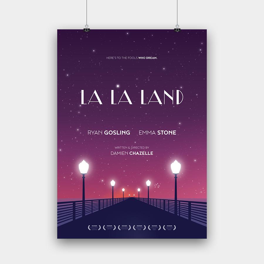 La La Land Kunstdruck – 50 x 70 cm