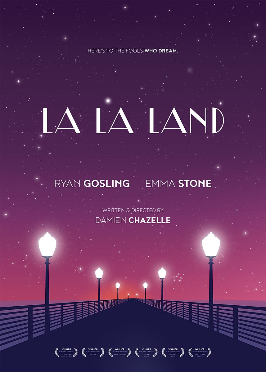 La La Land – Alternative movie poster (© grafinesse)