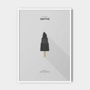 IceCream Tarantino »Death Proof« – 50 x 70 cm mit Rahmen