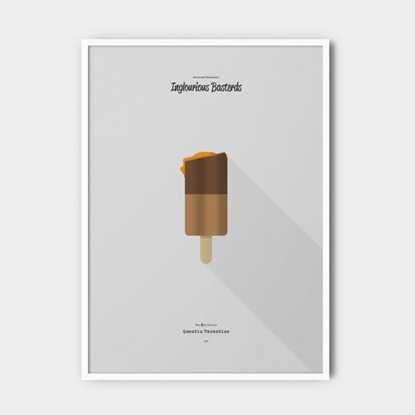 IceCream Tarantino »Inglourious Basterds« – 50 x 70 cm mit Rahmen