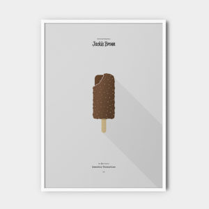 IceCream Tarantino »Jackie Brown« – 50 x 70 cm mit Rahmen