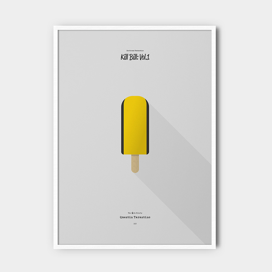 IceCream Tarantino »Kill Bill: Vol.1« – 50 x 70 cm mit Rahmen