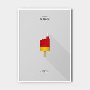 IceCream Tarantino »Kill Bill: Vol.2« – 50 x 70 cm mit Rahmen