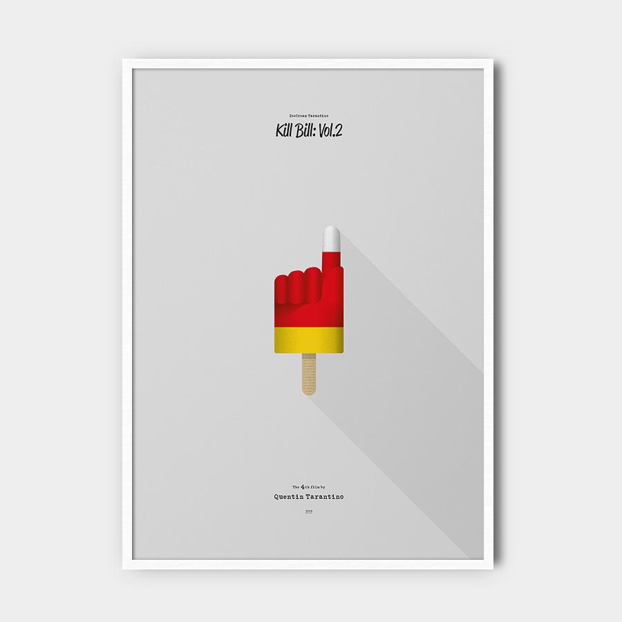 IceCream Tarantino »Kill Bill: Vol.2« – 50 x 70 cm mit Rahmen