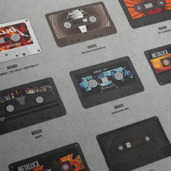 Metallica Tapographie Poster – Detailansicht