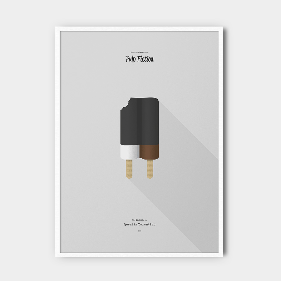 IceCream Tarantino »Pulp Fiction« – 50 x 70 cm mit Rahmen