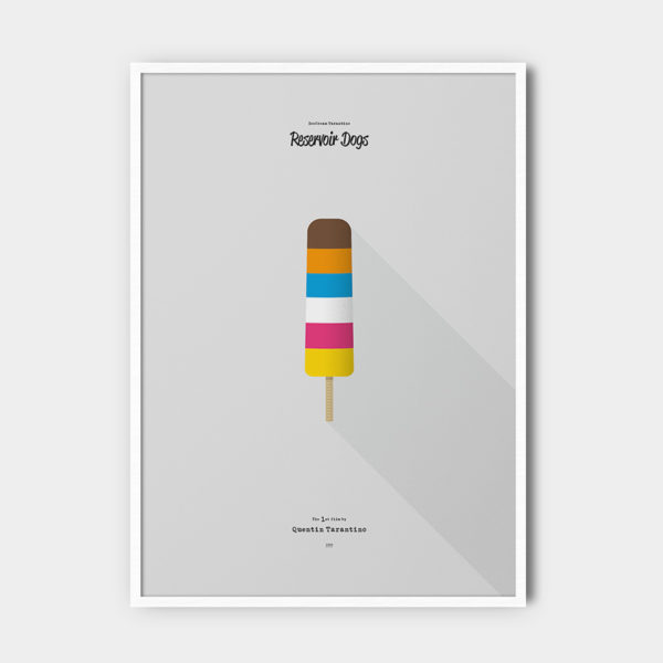 IceCream Tarantino »Reservoir Dogs« – 50 x 70 cm mit Rahmen