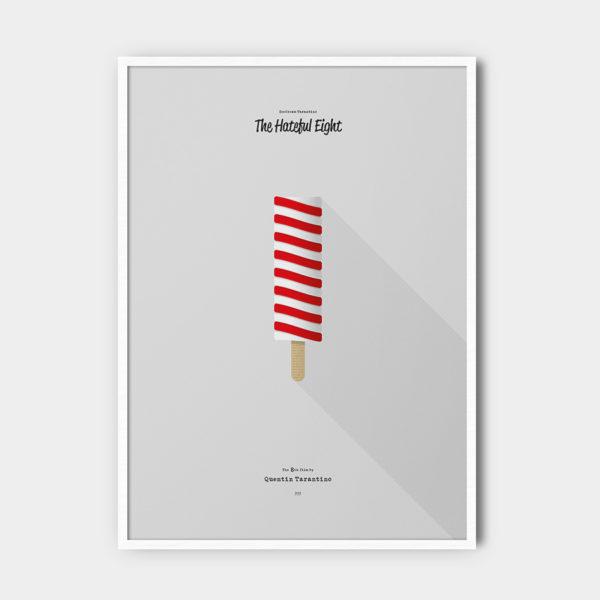 IceCream Tarantino »The Hateful Eight« – 50 x 70 cm mit Rahmen
