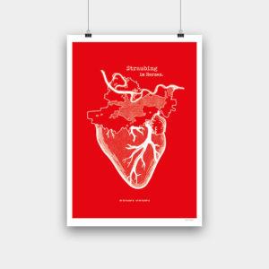 Straubing im Herzen Siebdruck – 42 x 59,4 cm